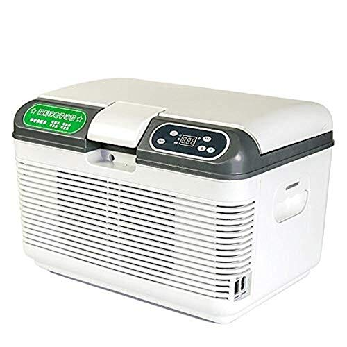 Mini Kühlschrank Kühler 12 Liter 12/220 V Haus und Auto warm und kalt Dual-Use-Auto Kühlschrank Silent Energiesparende Auto Kühlschrank