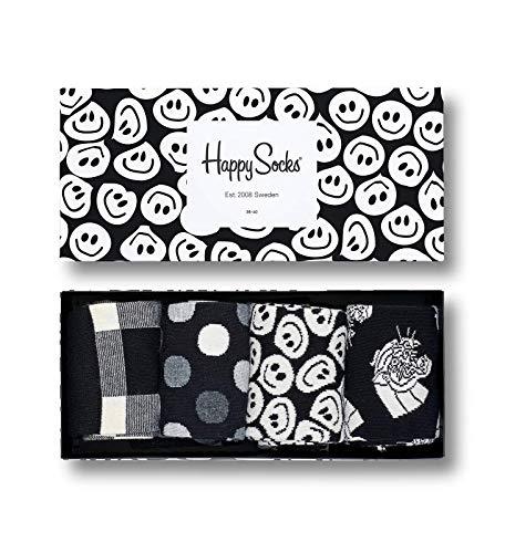 Happy Socks Damen, XBLW09 - Black White Gift Box, Mehrfarbig (Anthrazit 9003), 36-40