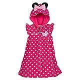 ディズニー ミニー マウス プールタオル 着れるタオル スイム カバーアップ ピンク × ドット【並行輸入品】 (100㎝(USサイズ3))