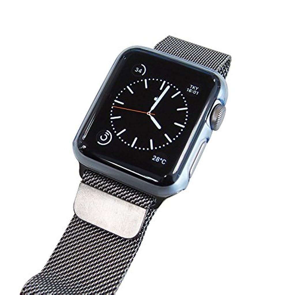 作業測る私LEPLUS Apple Watch 38mm 極薄フルカバーハードケース 「ZERO HARD」 クリアブルー LP-AW38HTCBL