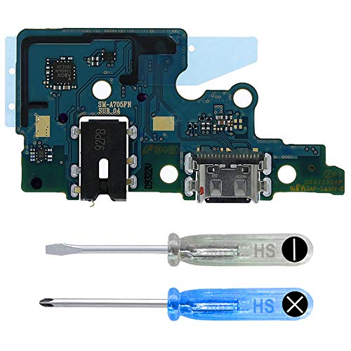 MMOBIEL Dock Connector Ladebuchse Port Flex kompatibel mit Samsung Galaxy A70 A705 2019 6.7 inch USB Typ C Flexkabel inkl Werkzeug