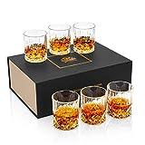 KANARS 6 Pezzi Bicchieri Whisky, Bicchiere Cocktail e Whiskey Cristallo, 300ml, Bellissimo...