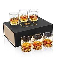 kanars 6 pezzi bicchieri whisky, bicchiere cocktail e whiskey cristallo, 300ml, bellissimo regalo