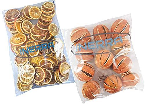 INERRA Getrocknet Orangen Multipackung - inklusive Ganze Orangen und Scheiben - Weihnachten Potpourri Dekorationen - 250 Grams of Each