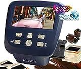zonoz FS-Five Digital Film & Slide Scanner - Converts 35mm, 126, 110, Super 8 & 8mm Film Negatives & Slides to JPEG - Includes Large Bright 5-Inch LCD, Easy-Load Film Inserts Adapters