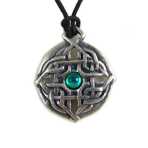 Creative Ventures Jewelry Guinevere Knot Celtic Mystery Pewter Pendant on Corded Necklace