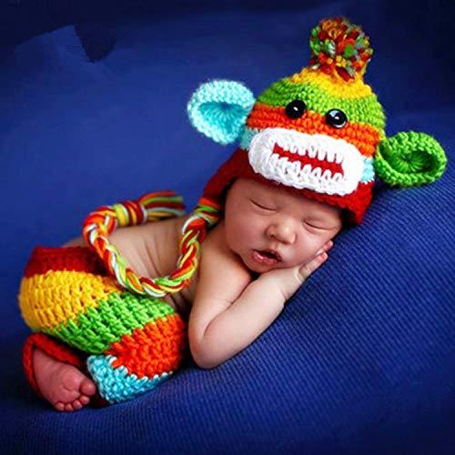 Fotoshooting-Requisiten für Neugeborene, für Mädchen und Jungen, gehäkelt, Strickkostüm, Hose, Latzhose