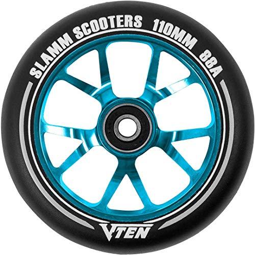 Slamm Scooters V-Ten II Ruedas, Unisex Adulto, Blue, 110 mm