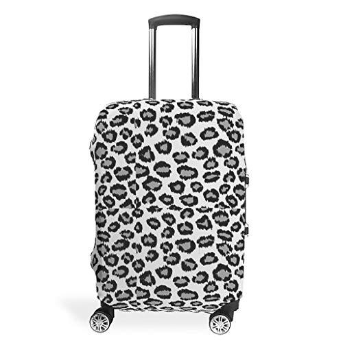 XJJ88 - Funda protectora para equipaje de viaje, diseño de leopardo, blanco (Blanco) - XJJ88-scc