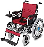 Foldable Power Compact Mobility Aid Wheel Chair, Lightweight Folding Carry Electric Wheelchair, Motorized...