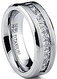 Metal Masters Co. Titanium Men's Wedding Band Engagement Ring...