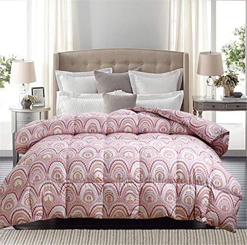BIANJESUS - Edredón (100% algodón, 200 x 230 cm, 220 x 240 cm), Color Blanco, B, 220 * 240