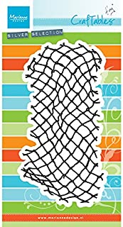 Marianne Design Craftables Stanzform Tiny'S Fishnetz Cutting Die, Metal, Plateado, 110X210