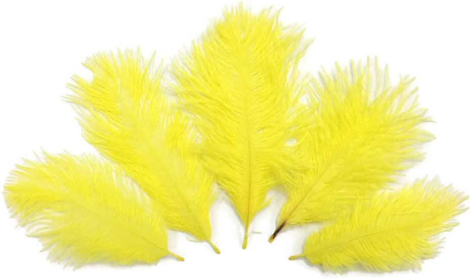 Purchase Wholesale Pack Time sale - Yellow Ostrich M Feathers Small Bulk Confetti