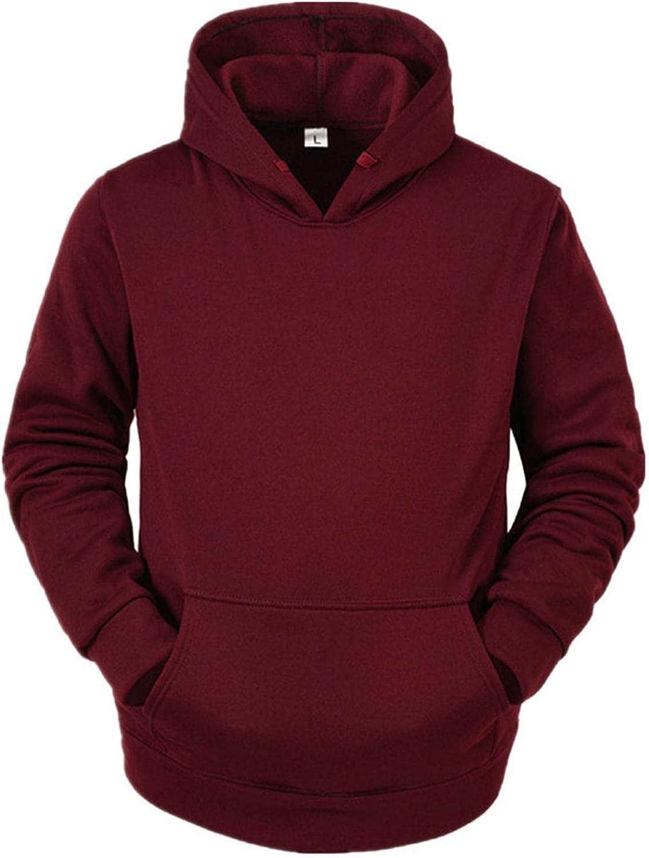 Burband Unisex Oversized Pullover Hoodie Sweatshirts Casual Long Sleeve Big and Tall Plain Sweatshirts with Hood