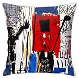 LongTrade Jean-Michel Basquiat P10 Fodera per Cuscino per Fodera per Cuscino Cuscino Quadrato Decorativo Moderno per Divano casa 18x18 Pollici