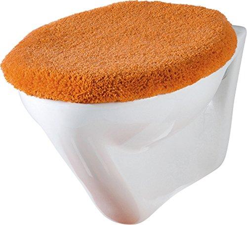 Erwin Müller WC-Deckelbezug mit Schnürung Terra Größe 47x50 cm - flauschig, weich (weitere Farben)