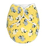 Rearz - Omutsu Bulky Fitted Nighttime Cloth Diaper (Yellow - Sheep) (Large/X-Large)