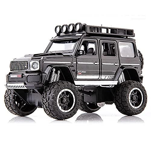 Nuoyazou 3 colores disponibles Metal resistente a roturas 4WD Bigfoot Buggy Toy Niños y niñas Coches de juguete Aleación Pull Back Toy Car Regalos Simulación de sonido y luz Puerta de juguete que se p