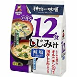 Miyasaka Instant Miso Soup with Clams, Less Sodium (12 miso soup packets), Made in Japan