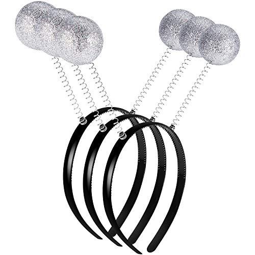 3 Stück Marsmensch Außerirdischer Stirnband Halloween Stirnband Lustige Ball Bopper Kopfbedeckung für Halloween Partyzubehör und Halloween Kostüm Zubehör