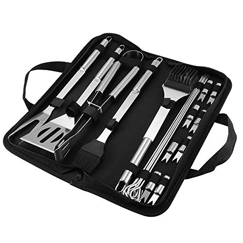 Save %46 Now! DDSKY BBQ Grill Tool Set, 20Pcs Stainless Steel Barbecue Heavy Duty Grill Accessories ...