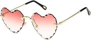 Retro Heart Shaped Sunglasses Hippie Lovely Aviator Style Eyewear