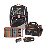 Scout Alpha Exklusiv Schulranzen Set 4tlg. Safety Light Space Command
