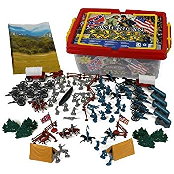 Mortar Americana SG/_B06WP1LQBX/_US Revolutionary War Toy Soldier Tub 33 Piece Set with George Washington Hessian and Continental Infantry British Lafayette Cannon