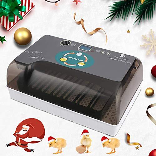 4YANG Eierinkubator, 12 Eier Inkubator mit automatischer Übertragung, Geflügelinkubator Digitale LED-Anzeige Temperaturgesteuert, geeignet für Hühner, Enten und Vögel sowie für den Familiengebrauch