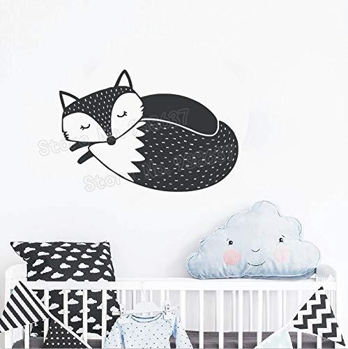 sans Cadre-Sleepy Fox Nursery Decal Sticker décoration de la Maison Enfants Chambre Wall Decal