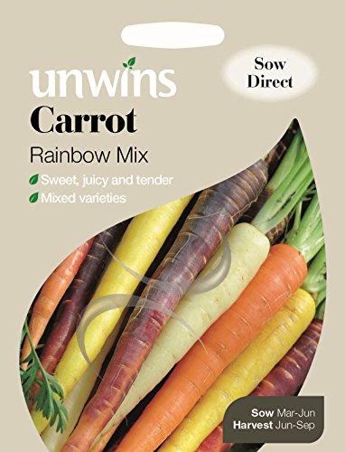 Unwins Paquete Pictorial - Zanahoria Rainbow Mix - 200 Semillas