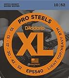 D'Addario Cordes pour guitare électrique D'Addario ProSteels EPS540, Light Top/Heavy Bottom, 10-52