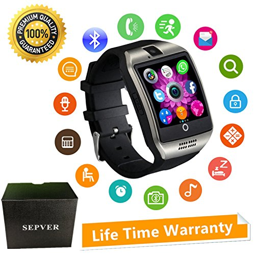 Smartwatch Smart Watch mit Kamera Touchscreen SIM Card Slot Facebook Whatsapp Schrittzähler Fitness Tracker Intelligente Armbanduhr Kompatibel ios iPhone Android Damen Herren Kinder (Silber)