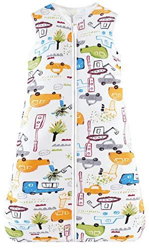 Chilsuessy Sommerschlafsack Baby Schlafsack Kleine Kinder Schlafanzug ohne Ärmel für Sommer und Frühling 100% Baumwolle (130/Baby Höhe 130-150cm, Cartoon Fahrzeug)