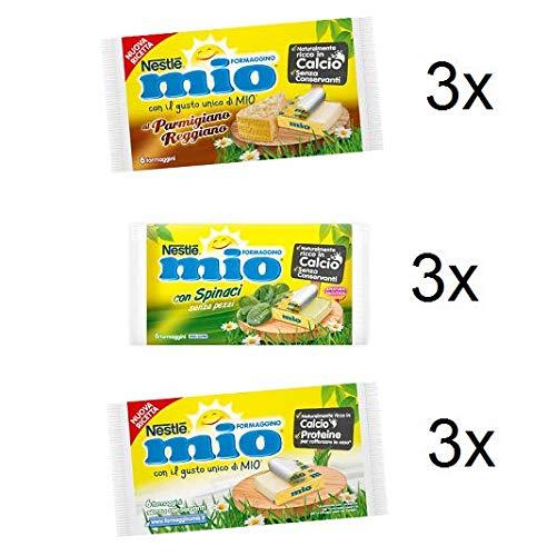 Testpaket Nestlè Formaggino Mio Käse Frischkäse reich an Kalzium ( 9 x 125g )