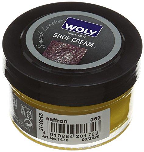 Woly Woly Shoe Cream, Betún Zapatos, Amarillo (Saffron), 50 ml