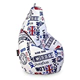 HAPPERS Puff Pera XL con Estampado London