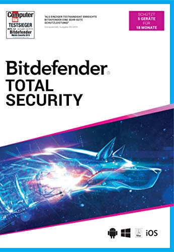Bitdefender Total Security 2021 5 Gerät / 18 Monate (Code in a Box)|Standard|5|18 Monate|PC/Mac/Android|Download