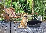 Datex LETTINO ECO-BLACK-95x70x29cm Cama plástica ecológica para Perros y Gatos, Negro, 95x70x29cm
