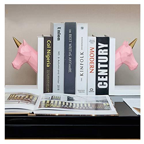 HNMY Carino Bookend Creativo Resina Bollending Girl Bedroom Desk Book Ends Decoration Modern Minimalista Decorazione della casa Decorazione (Color : Pink)