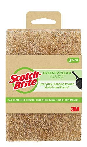 Scotch-Brite Greener Clean Non-Scratch Scour Pads, 3 Count