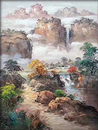 Impresión de la Lona de Urban en Moderno - Primavera - Pintura al óleo Decorativa Pintada a Mano, sin Marco 60 CM * 90 CM