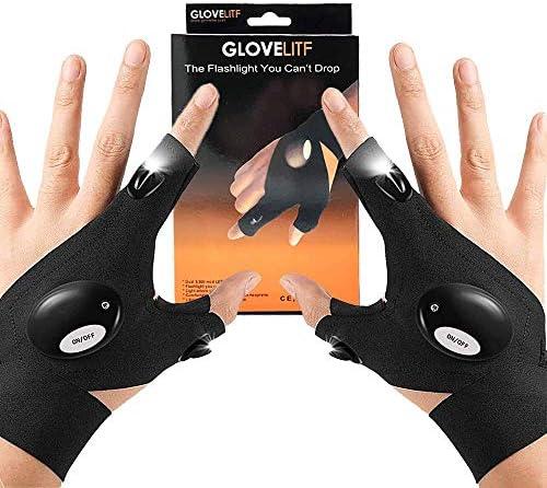 LED Flashlight Gloves Work Gloves with Lights Birthday Gifts for men dad boyfriend Light Flashlight product image