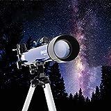IW.HLMF Espejo Zenith Completo de 45 Grados, Espejo buscador 6X30, Telescopio Refractor portátil Óptica de Vidrio Totalmente revestida Telescopio Ideal para Principiantes, Longitud Focal 910 Mm,