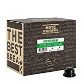 Note d'Espresso - Cápsulas de café para las cafeteras Caffitaly, Intenso, 6,8 g (caja de 100 unidades)