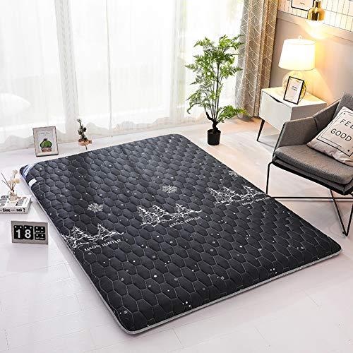 L&T Japones Grueso Tatami Cubre Colchón, Acolchado Futon Colchon Tatami Suelo Estera Portátil Sleeping Pad Estudiante Dormir Casa-Negro 150x190cm(59150x190cm(59x75inch) x75inch)