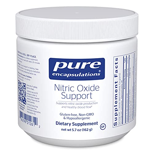 Pure Encapsulations - Nitric Oxide Support - Supports Healthy Oxygen Circulation and Promotes Energy Production Within Muscles - 5.7 Ounces