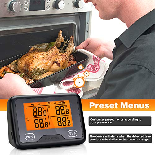 Product Image 7: Inkbird Wi-Fi & Bluetooth IBBQ-4BW, Wireless BBQ Thermometer with 4 Probes, Android&iOS