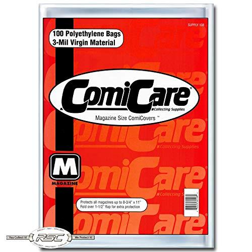 ComiCare Magazine Size Comic Book Polyethylene Bags 8-3/4' x...